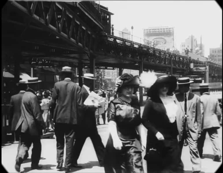 Thước phim đen trắng hơn 100 năm trước về một New York cổ xưa