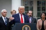 Tại Vườn Hồng, Tòa Bạch Ốc hôm 13/3, Tổng thống Hoa Kỳ Donald Trump thông báo tình trạng khẩn cấp quốc gia do đại dịch virus corona.
