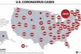Mỹ trở thành ổ dịch viêm phổi Vũ Hán số 1 thế giới