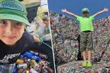Cậu bé Mỹ 11 tuổi tái chế hàng triệu chiếc vỏ lon, chai nhựa